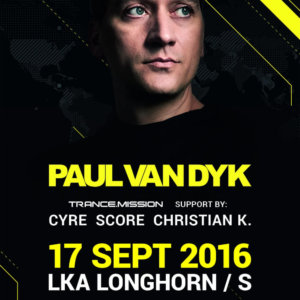 Musical Madness and AWAKE presents Trance.Mission with Paul van Dyk at LKA Longhorn, Stuttgart, Germany on 17th of September 2016