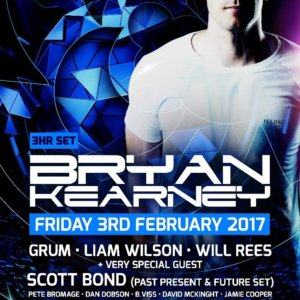 RONG presents Bryan Kearney, Scott Bond, Grum, Will Rees, Liam Wilson and more at Venus, Manchester, UK on 3rd February 2017 poster