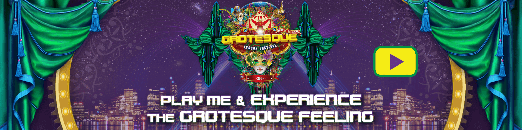 PT Events presents Grotesque Indoor Festival 300 banner movie