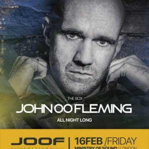 The Gallery presents John 00 Fleming at Ministry Of Sound, London on 16th of February 2018 poster